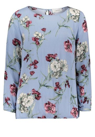 Cartoon Bluse mit Blumenprint