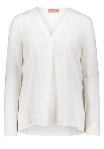 Damen Cartoon Shirt Blusenshirt mit V-Ausschnitt weiß | 04026324426148