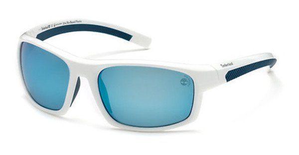 Timberland Herren Sonnenbrille » TB9134«, weiß, 21H - weiß/braun