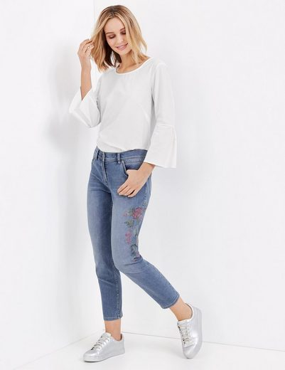Gerry Weber Trousers Leisure Jeans Shortened With Embroidery Best4me Roxeri