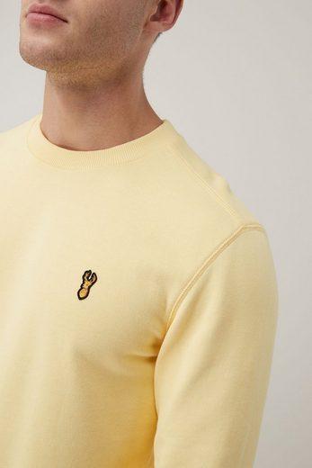 Next Sweatshirt mit Rundhalsausschnitt und Aufnähern
