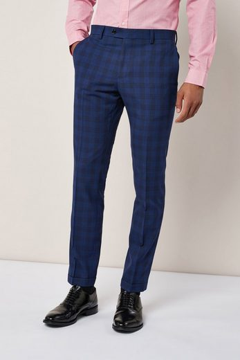 Next Skinny Fit-Anzug mit Karomuster: Hose