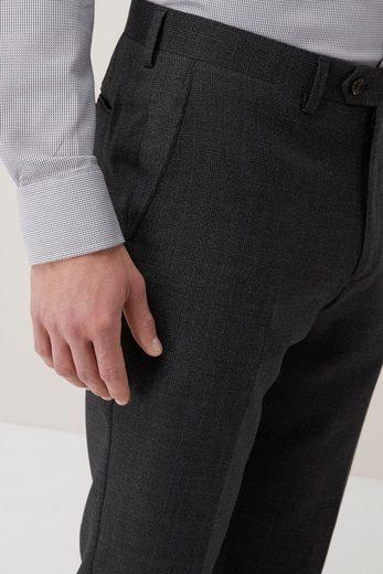 Next Regular-Fit-Anzug mit Karomuster: Hose