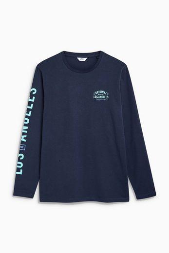 Next Langarm-T-Shirt mit Aufdruck
