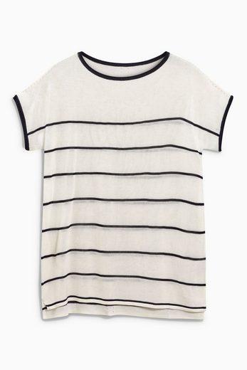 Next T-Shirt mit Streifen am Ausschnitt