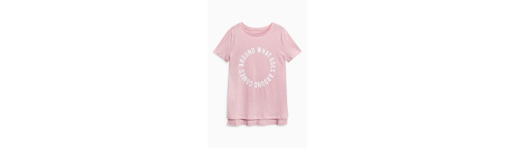 Next T-Shirt mit grafischem Slogan, pastellfarben