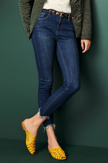 Next Skinny-jeans Mit Saum In Used-optik