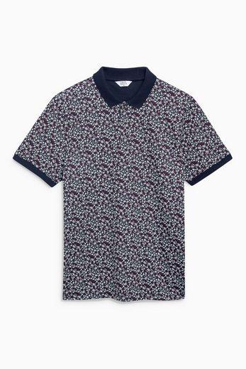 Next Poloshirt mit zartem Blumenmuster