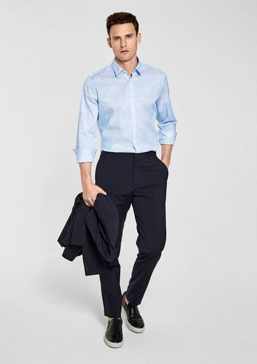 s.Oliver BLACK LABEL Slim Fit: Hemd mit Streifenprint