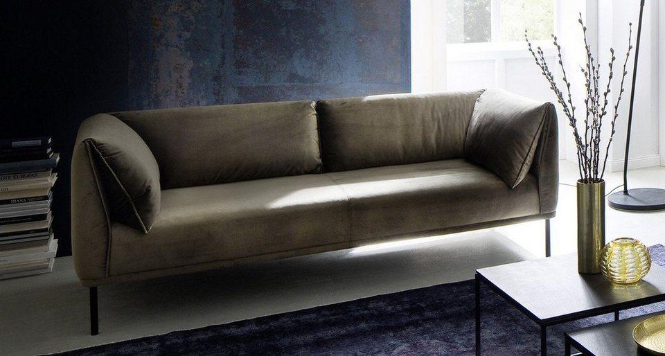 kasper wohndesign sofa 3 sitzer stoff oliv gr n carry. Black Bedroom Furniture Sets. Home Design Ideas