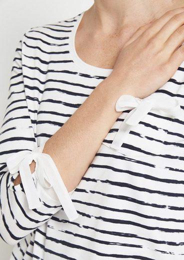COMMA 3/4-Arm Jerseyshirt mit lässigem Streifenmuster