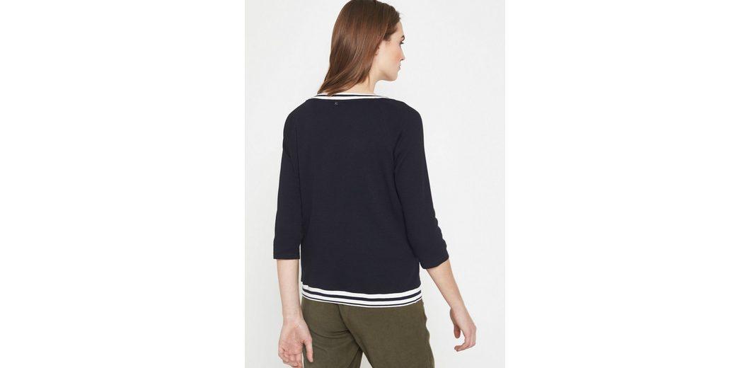 Hohe Qualität Günstig Online COMMA 3/4-Arm Shirt mit farbenprächtigem Floralprint Authentisch Zu Verkaufen Aem5wH