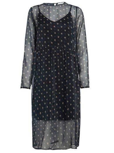 Pieces Langärmeliges Print Kleid