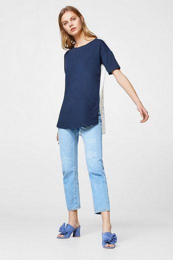 ESPRIT COLLECTION Baumwoll-Shirt mit Blumen-Print