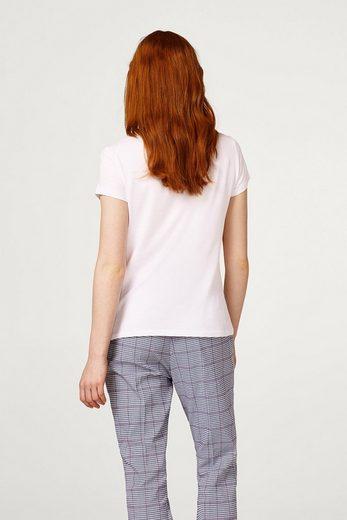 EDC BY ESPRIT Softes T-Shirt mit gestreiften Rüschen