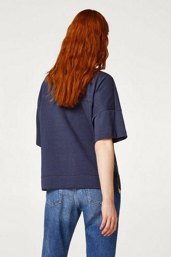 ESPRIT Softes Sweatshirt mit Logo und Zippern