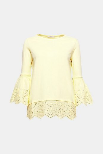 Edc By Esprit Longsleeve With Fine Lace And Braid
