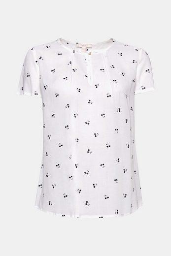 ESPRIT Blusen-Shirt mit Kirschen-Print