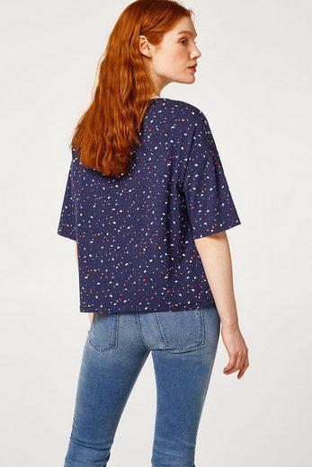 ESPRIT Lockeres Shirt mit Multicolor-Streifen