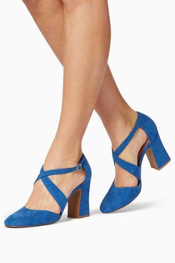 Next Zweiteilige Schuhe mit Überkreuzdetail und Blockabsatz