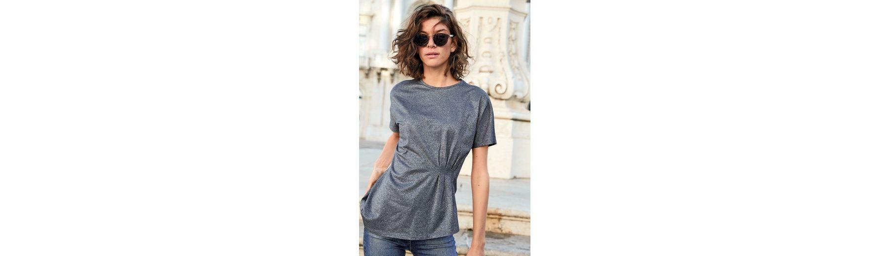 Next Asymmetrisch geschnittenes T-Shirt in Metallic Am Billigsten Outlet Günstig Online Grenze Angebot Billig Billig Verkauf Websites HbAxiaw