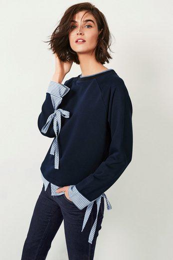 Next Sweatshirt im Lagen-Look mit Hemdeinsatz