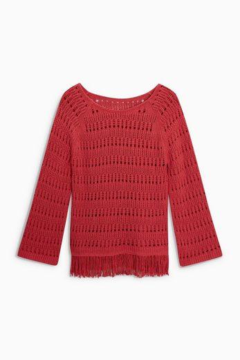 Next Pullover mit Fransensaum