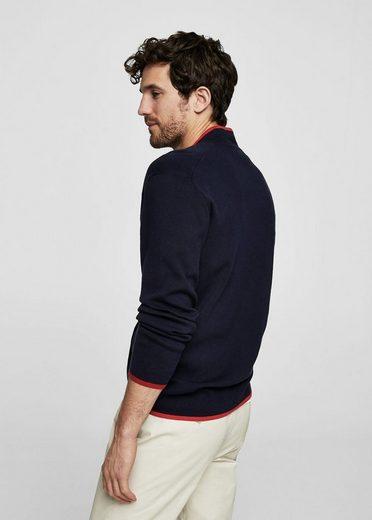 MANGO MAN Pullover mit kontrastierenden Abschlüssen