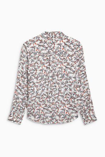 Next Hemd mit Vogelmuster