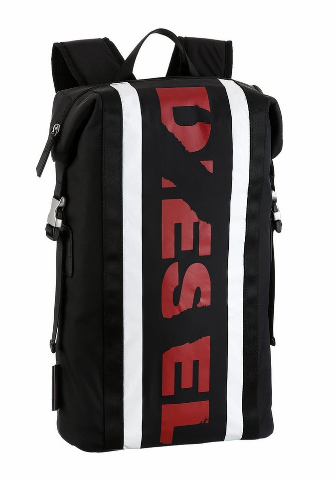 diesel daypack mit laptopfach aus strapazierf higem. Black Bedroom Furniture Sets. Home Design Ideas