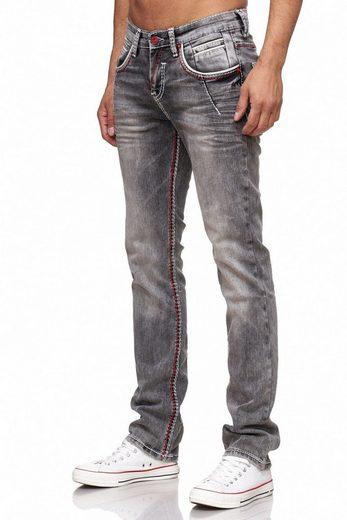Rusty Neal Jeans mit zweifarbigen Nähten