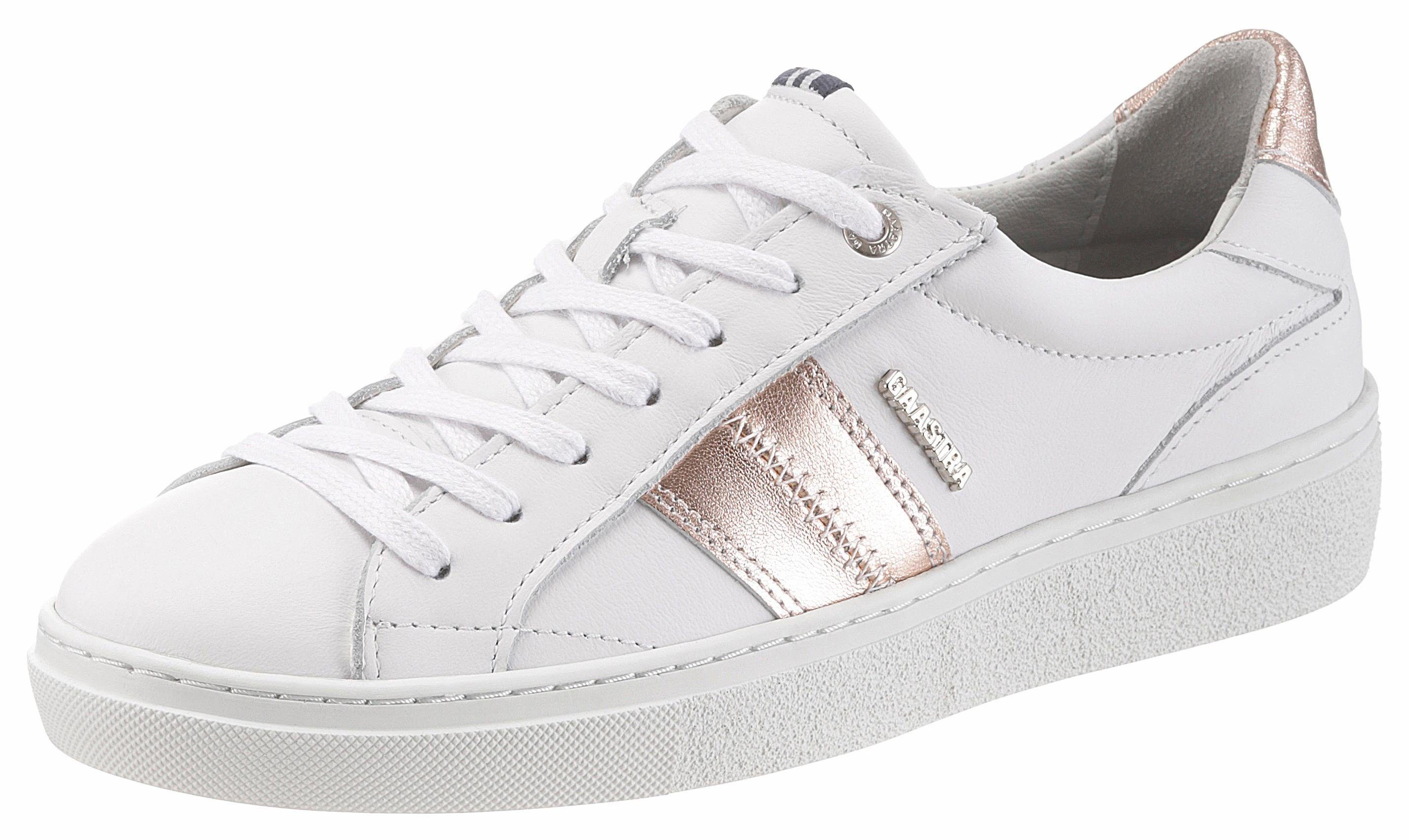 Gaastra CAT MET Sneaker, mit Metallic Streifen  weiß-roségoldfarben