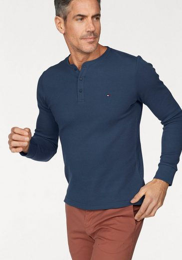 Tommy Hilfiger T-Shirt HENLEY LONG SLEEVE SLIM FIT TEE
