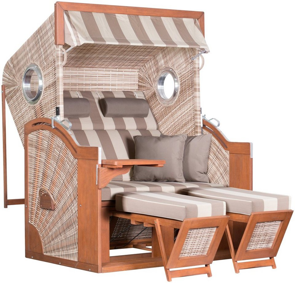Strandkorb DeVries PURER Seaside XL PE Design 422 Seashell
