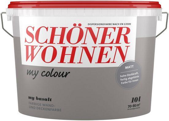 SCHÖNER WOHNEN FARBE Wand- und Deckenfarbe »my colour - my basalt«, matt, 10 l