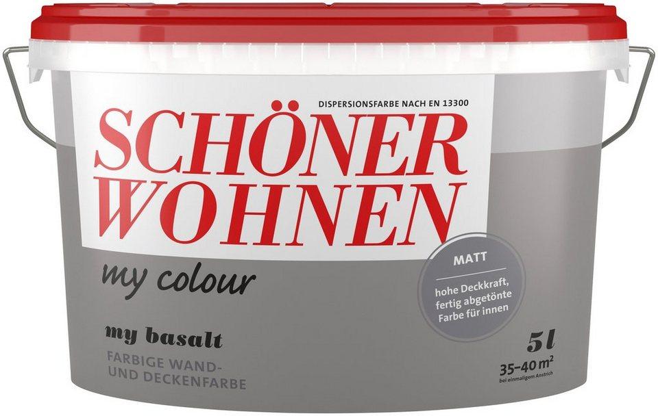 Schöner Wohnen Farbe Wand Und Deckenfarbe My Colour My Basalt