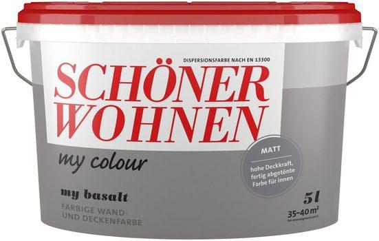 SCHÖNER WOHNEN FARBE Wand- und Deckenfarbe »my colour - my basalt«, matt, 5 l