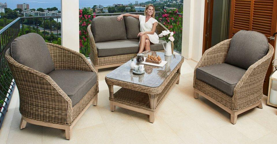loungeset riva 11 tlg sofa 2 sessel tisch 122x68 cm polyrattan braun online kaufen otto. Black Bedroom Furniture Sets. Home Design Ideas