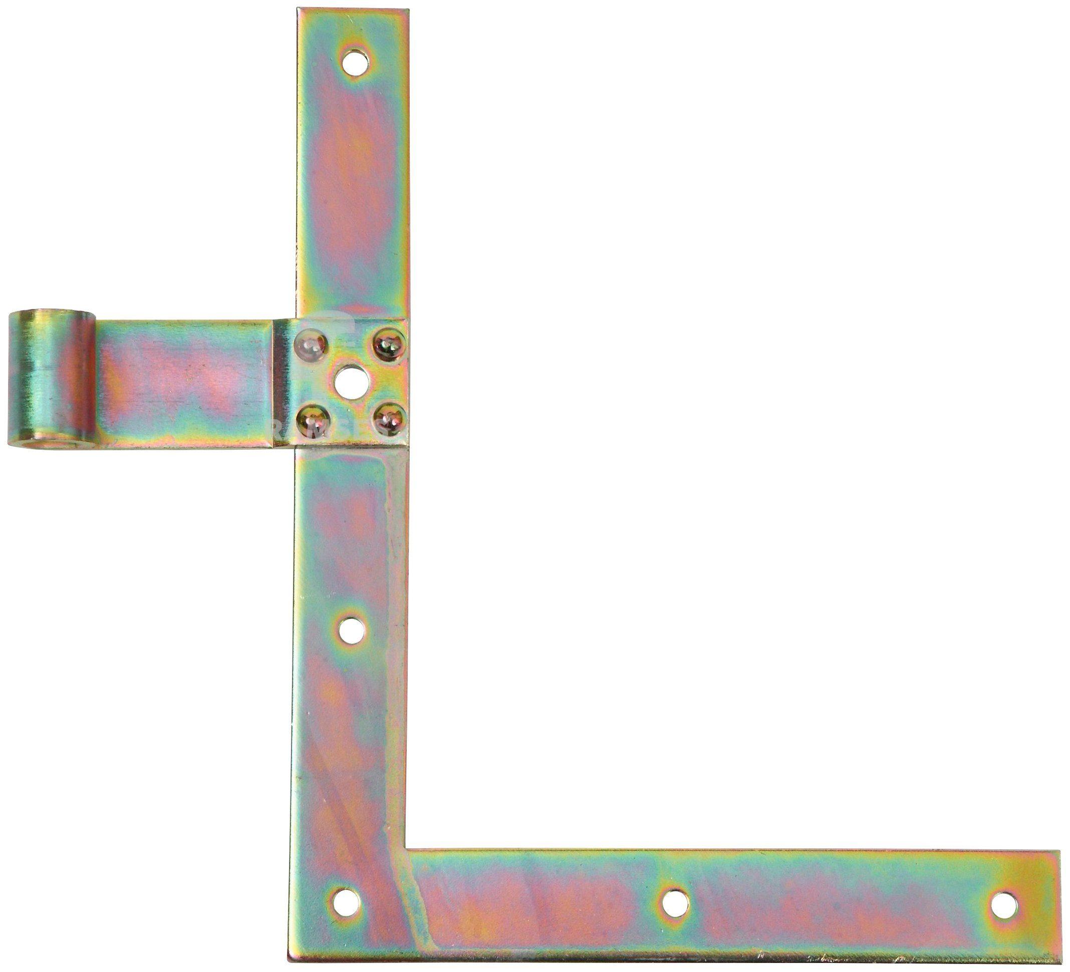 RAMSES Fensterladen-Winkelband , rechts unten 200 mm für Dorn Ø 13 mm Stahl verzinkt
