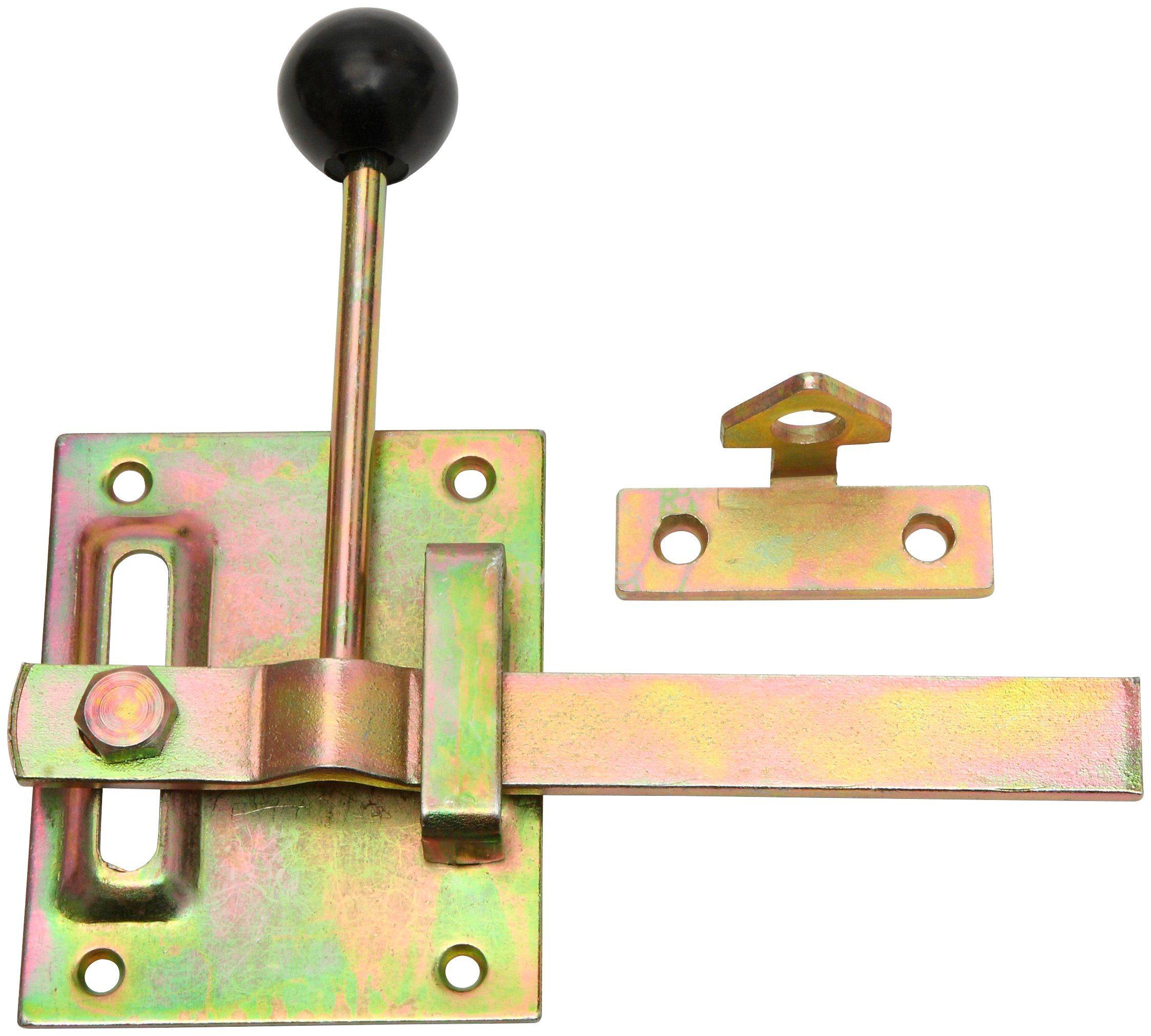 RAMSES Torschließer , Gartentorverschluss 100 x 80 mm Stahl verzinkt