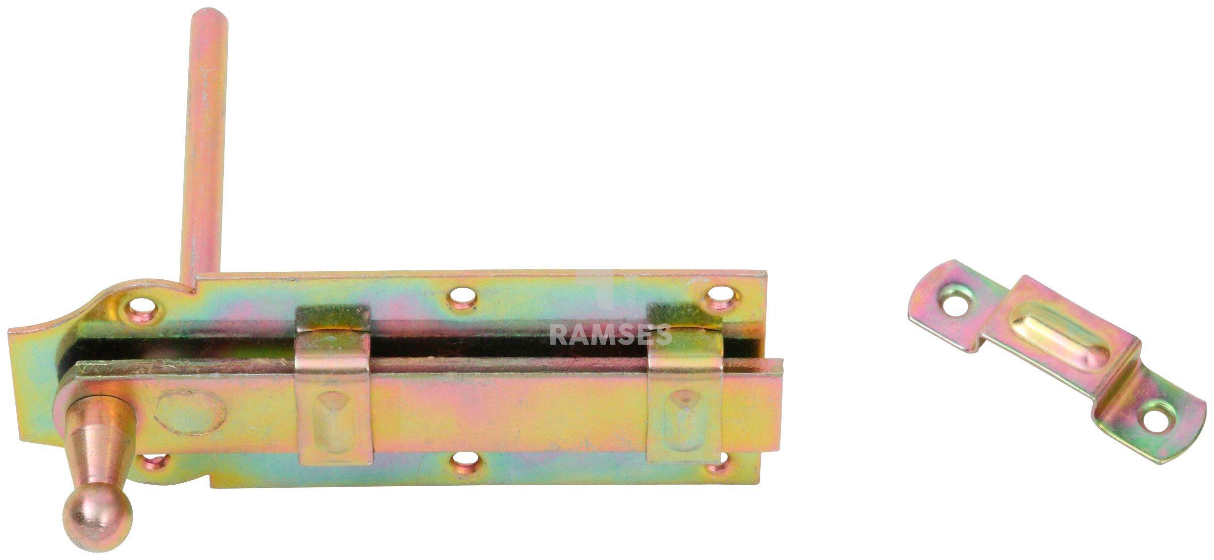 RAMSES Sicherheits-Stallriegel , mit Stift 160x65 mm Stahl verzinkt