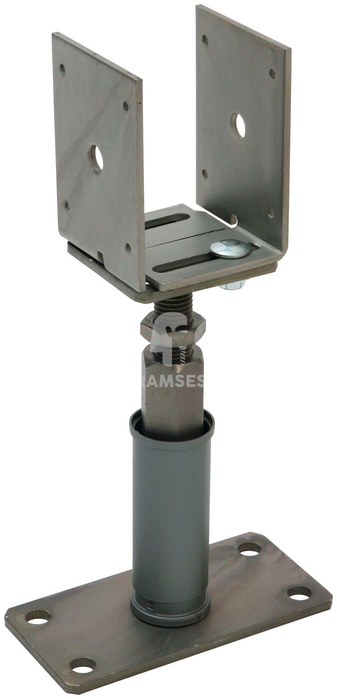 RAMSES Pfostenträger , seiten- und höhenverstellbar 80-160 x 135-200 mm