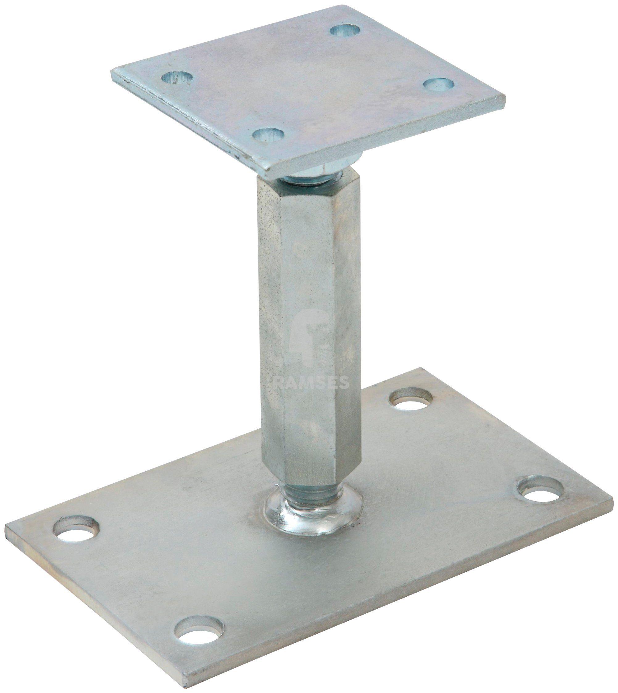 RAMSES Pfostenträger , höhenverstellbar 80 X 80 X 120 - 200 mm Stahl verzinkt
