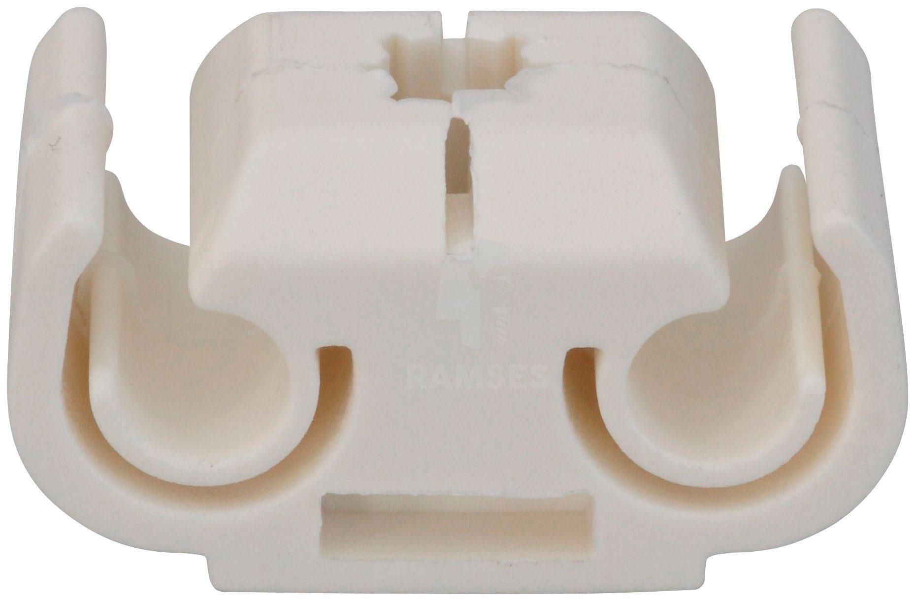 RAMSES Befestigung , Kunststoffclip 4,75 mm Leitung 2-fach 10 Stück