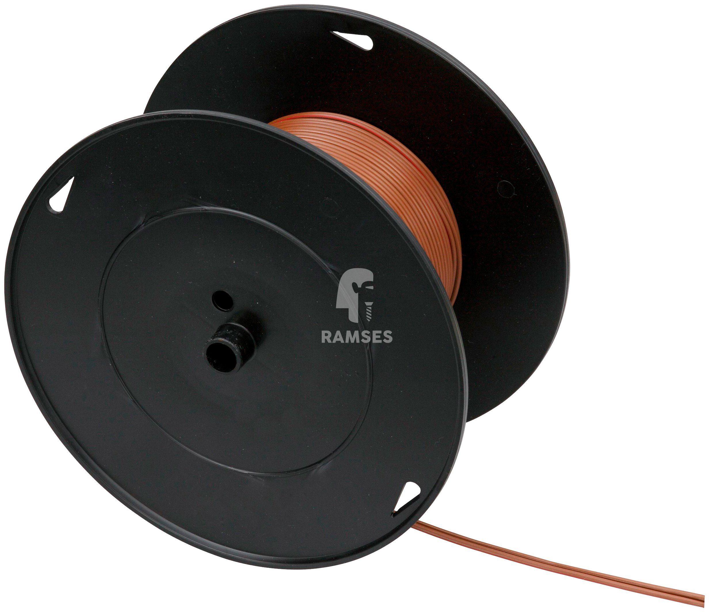 RAMSES Fahrzeugleitung , Lautsprecherleitung Braun/Rot 2 x 0,75 mm² 50 Meter