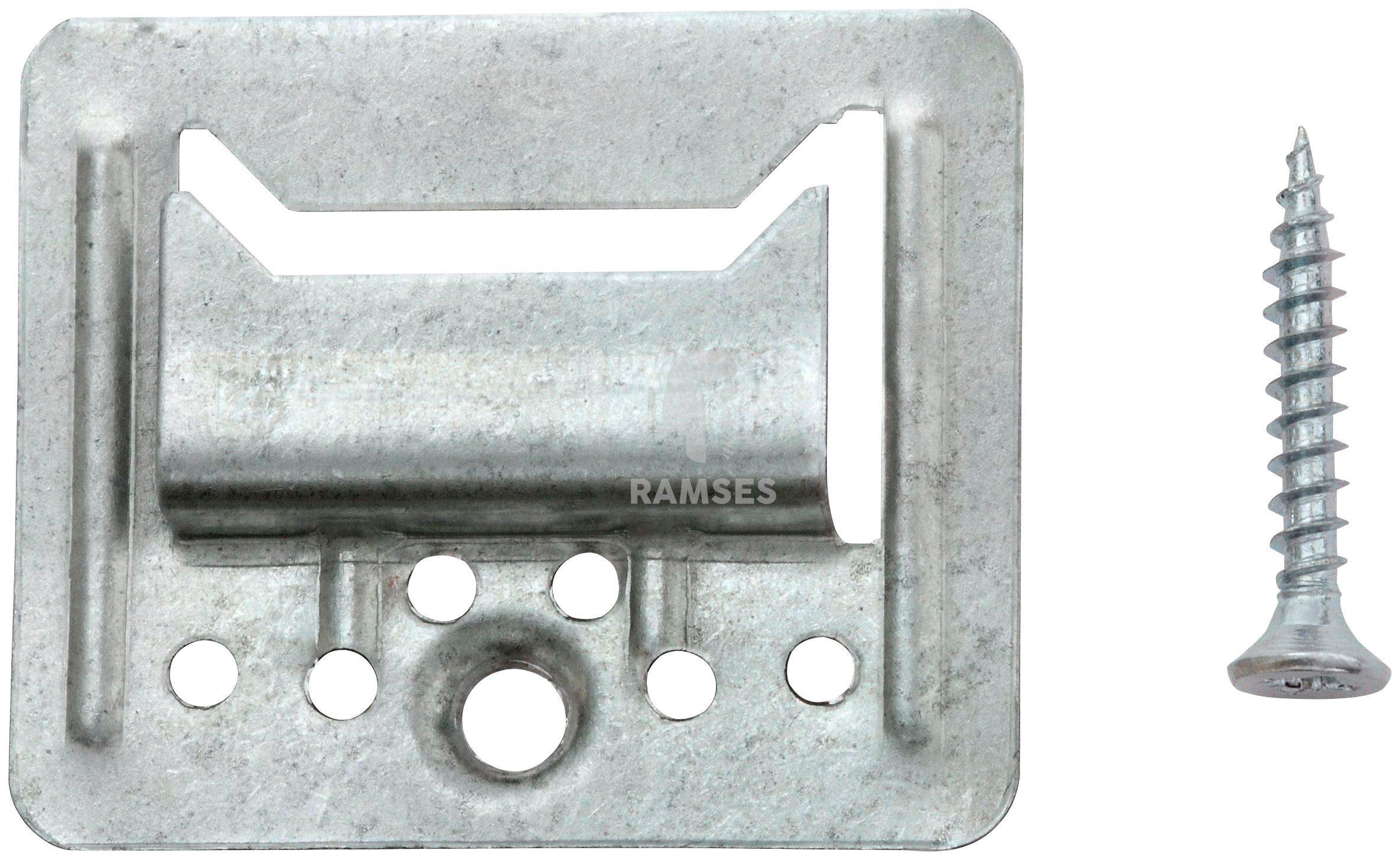 RAMSES Profilholzkrallen , extra stark inkl. Schrauben 3 mm Stahl verzinkt 100 Stück