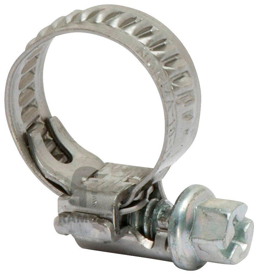 RAMSES Schlauchschelle , Bandbreite 7,5 mm Spannbereich 10-16 mm 100 Stück