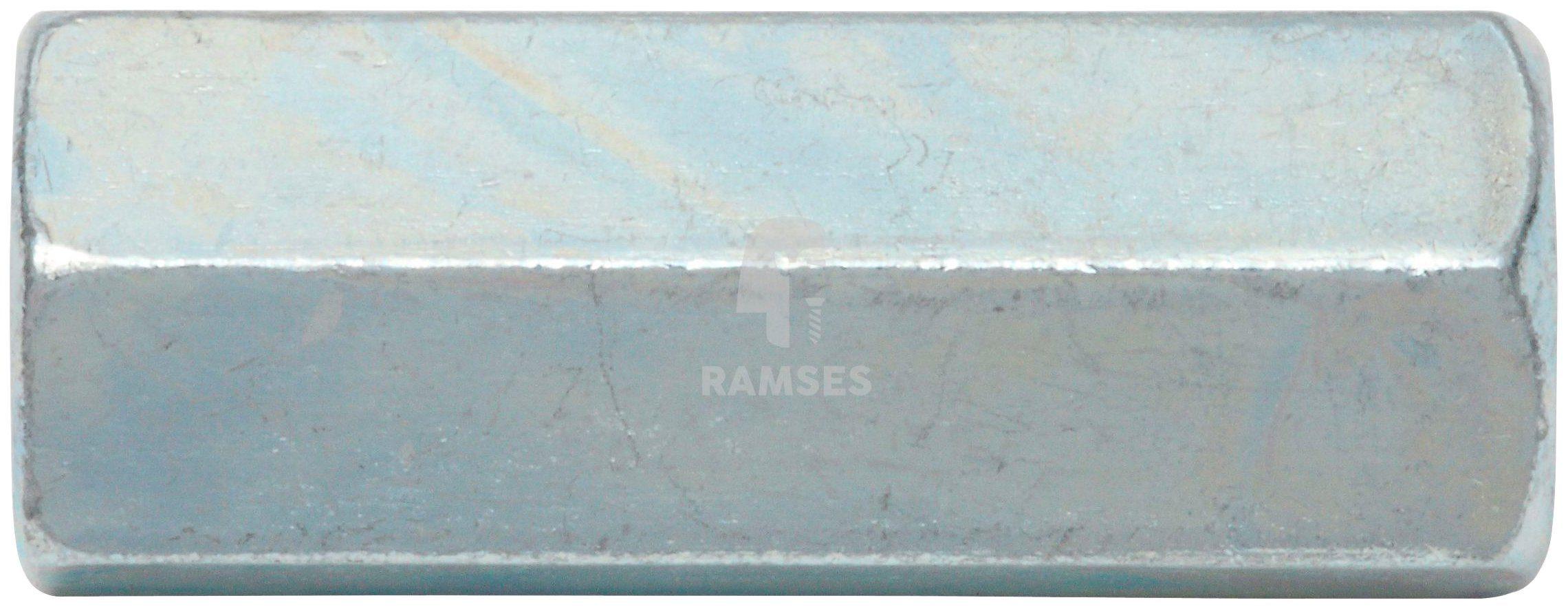 RAMSES Muffe , Sechskant Gewindemuffe M10 X 30