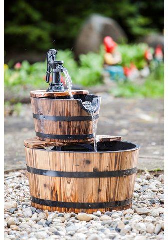 HEISSNER Rinkinys: sodo fontanas »Wooden Barrel...