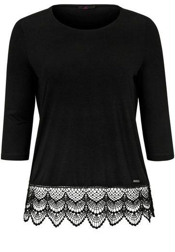 Emilia Lay T-Shirt mit 3/4-Arm, Spitze